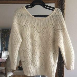 Sezane Ivory Sweater